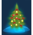 Christmas tree on a blue background EPS10 vector image