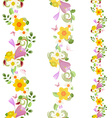 collection vertical seamless borders with spring vector image