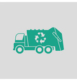 Garbage car recycle icon vector image
