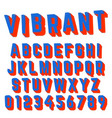 alphabet font vibrant design vector image