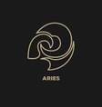 Aries Horoscope Icon vector image
