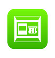atm icon digital green vector image vector image