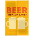 beer poster vector image vector image