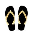 black flip flops vector image vector image