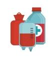 blood donation bag bottle medical vector image vector image