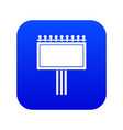 board for statistics icon digital blue vector image vector image