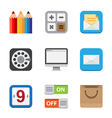 Business and interface flat icons vector image vector image