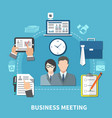 business items colored composition vector image vector image