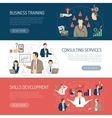 Business Training Consulting Horizontal Banners vector image vector image
