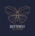 butterfly logo geometric design vector image