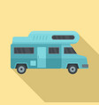 camping truck icon flat style vector image