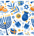 cartoon decorative elements jewish holiday vector image