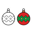 christmas ball icon on white background vector image