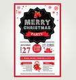 christmas menu invite vector image vector image