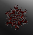 Christmas snowflake cut of paper vector image