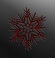 christmas snowflake cut paper vector image vector image