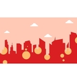 City skyline landscape of silhouette vector image vector image