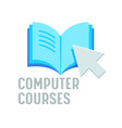 computer courses banner online education vector image