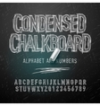 Condensed chalk alphabet letters and numbers vector image vector image