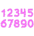 Cool sweet numbers vector image