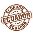 ecuador brown grunge round vintage rubber stamp vector image vector image