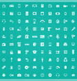 electronics 100 icons universal set for web and ui vector image vector image