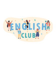 english club poster design in a panorama banner vector image