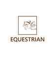 equestrian club logo vector image vector image