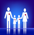 Family with heart vector image vector image