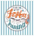 festa junina holiday card design for brazilian vector image