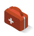first aid kit for home car transport isometric vector image