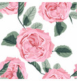 floral seamless pattern with watercolor roses vector image vector image
