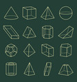 geometric shapes collection 3d vector image vector image