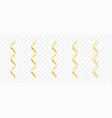 golden confetti ribbons vector image vector image