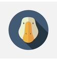 Goose flat icon with long shadow vector image vector image