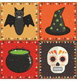 halloween ornaments vector image vector image