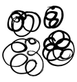 Hand-drawn ink collection vector image vector image
