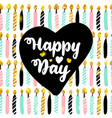 happy day postcard design vector image vector image