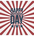 Happy Independence Day greeting Text vector image vector image