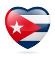 Heart icon of Cuba vector image