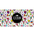 icecream background sketch for your design vector image vector image