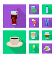 isolated object of drink and bar icon collection vector image