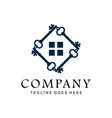 key logo for house estate business logo design vector image vector image