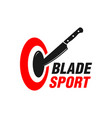 knife throwing sports logo vector image