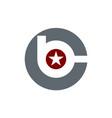 letter b c modern vector image vector image