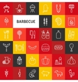 Line Barbecue Icons vector image vector image