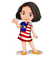 Malaysian girl waving hello vector image