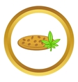 Marijuana seeds icon vector image vector image