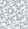Medical pills seamless monochrome background vector image vector image