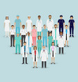 medical team group doctors nurses and vector image